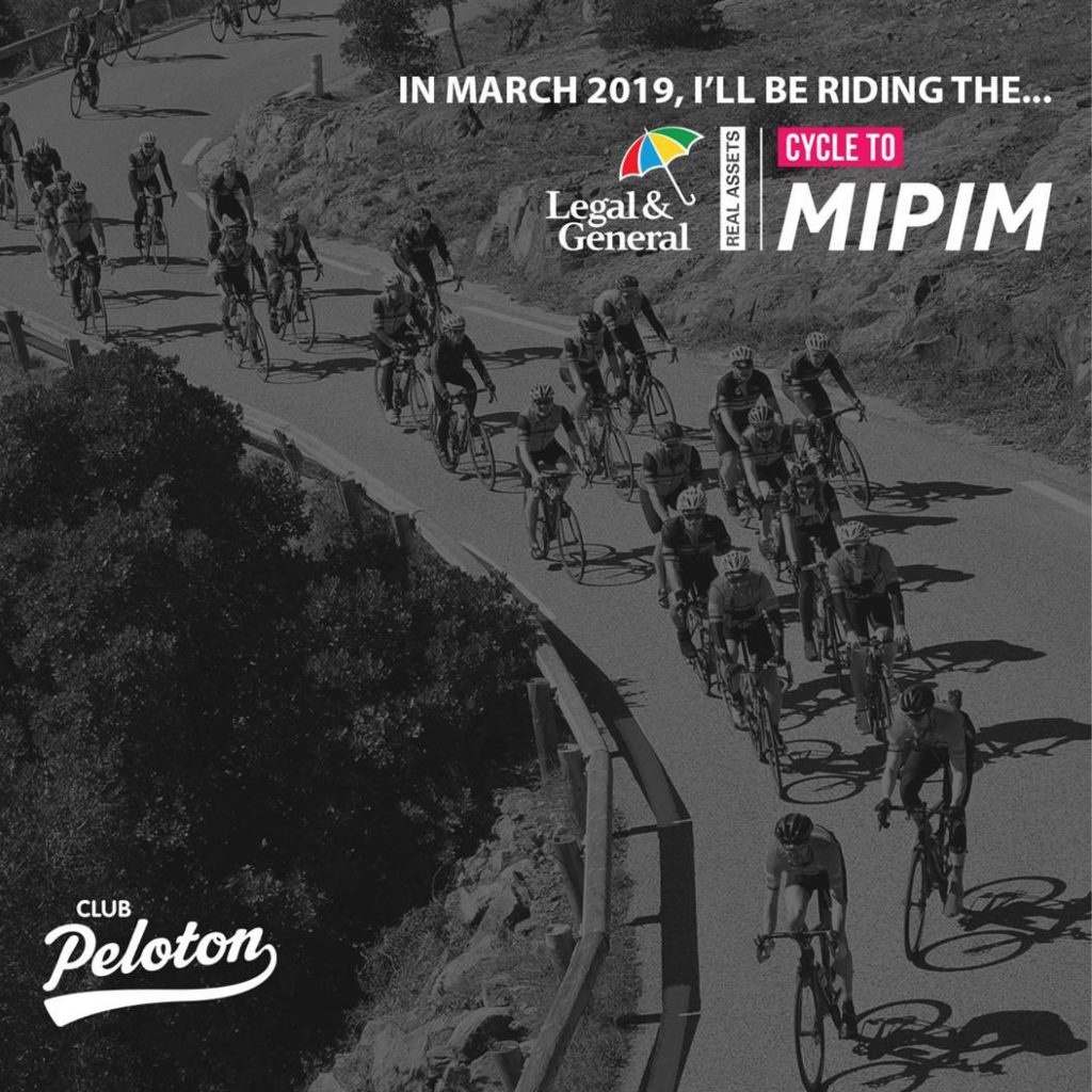Director Tom Wynne is Cycling to MIPIM 2019